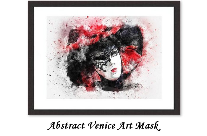 Abstract Venice Art Mask