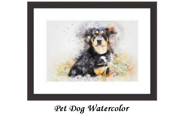 Pet Dog Animal Watercolor