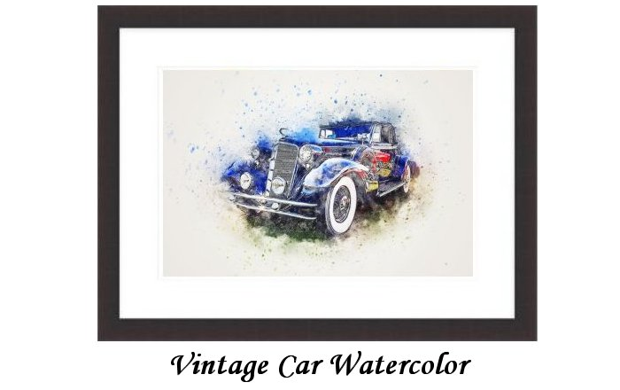 Vintage Car Watercolor
