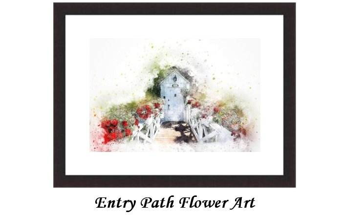 Entry Path Flower Art