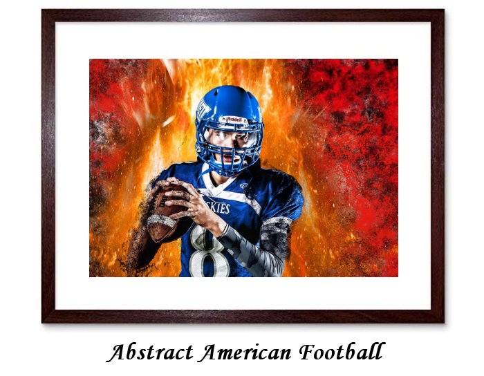 Abstract American Football Framed Print