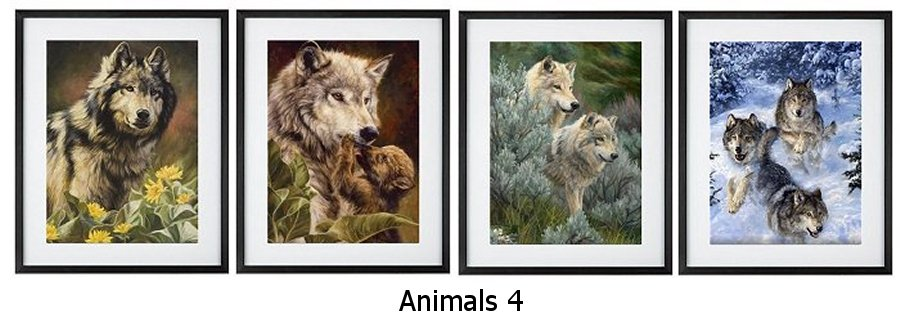 Animals 4 Framed Prints
