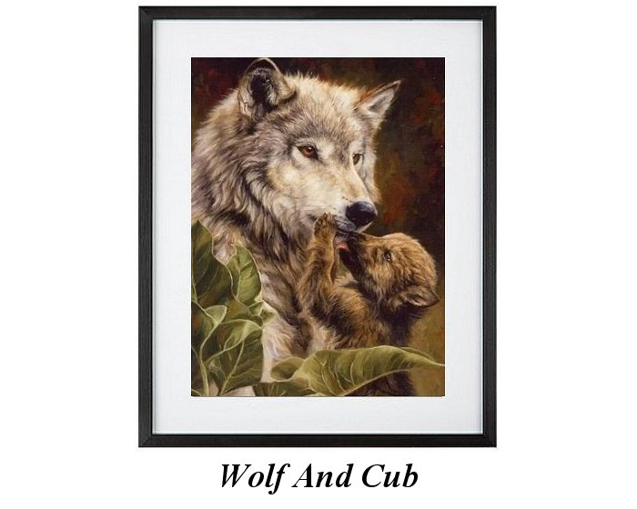 North American Wolf And Cub