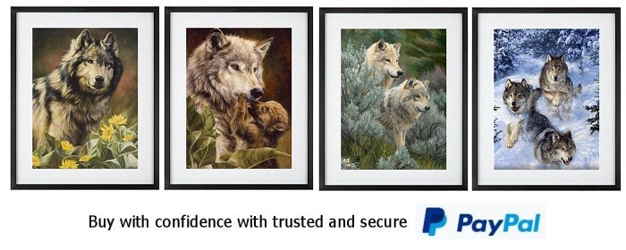 North American Wolves Framed Prints