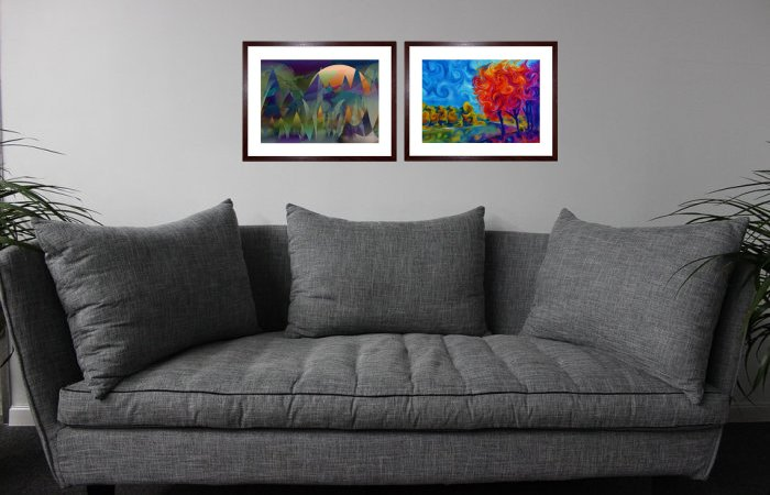 Contemporary Art Framed Prints