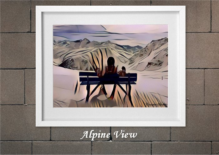 Alpine Views From Creative Bubble Art