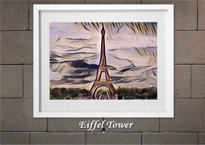 Eiffel Tower From Creative Bubble Art