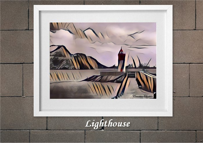 The Lighthouse From Creative Bubble Art