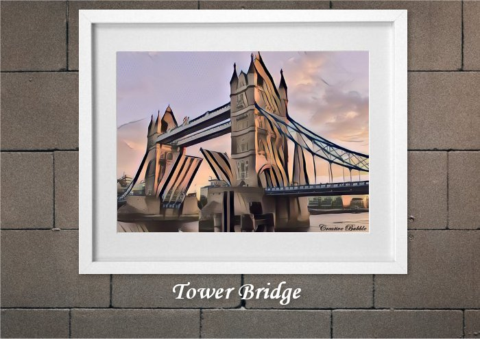Tower Bridge From Creative Bubble Art
