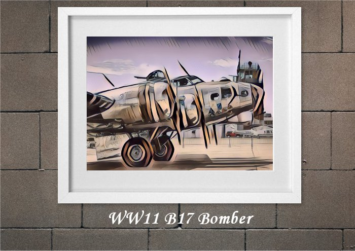 WW2 B17 Bomber From Creative Bubble Art