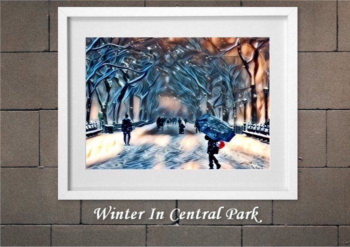 Winter In Central Park From Creative Bubble Art