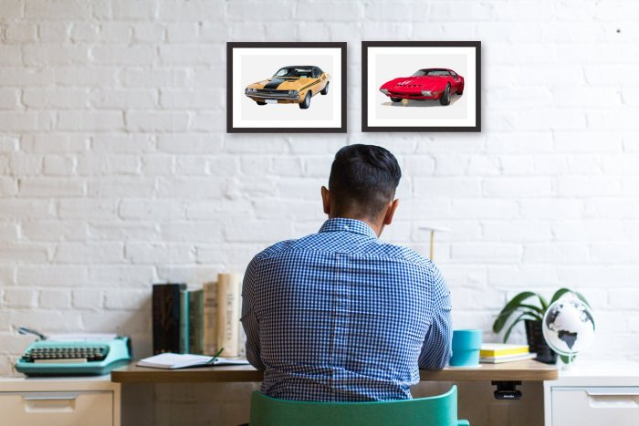 American Cars Framed Prints