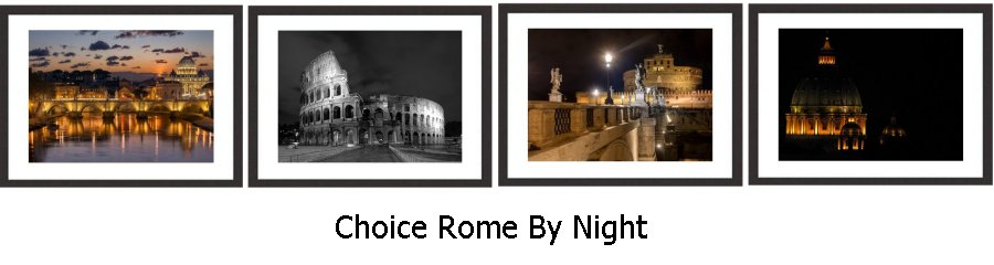 Choice Rome By Night Framed Prints