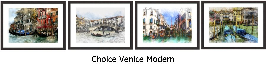 Choice Venice Modern Framed Prints