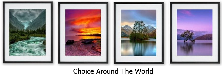 Choice Around The World Framed Prints