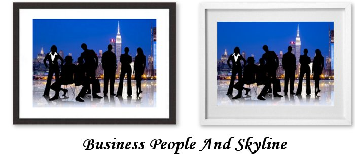 Business People And Skyline