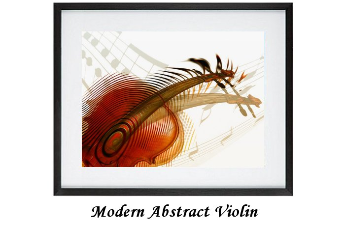 Modern Abstract Violin