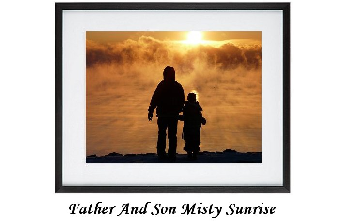 Father And Son Misty Sunrise
