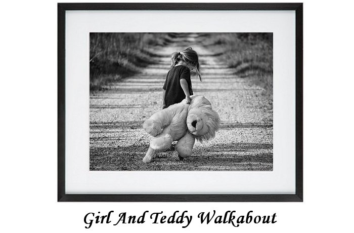 Girl And Teddy Walkabout