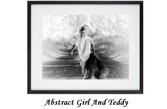 Abstract Girl And Teddy