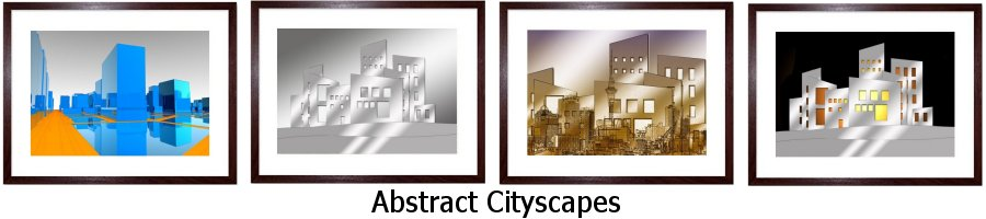 Abstract Cityscapes Framed Prints