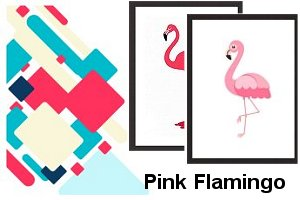Pink Flamingor Framed Print