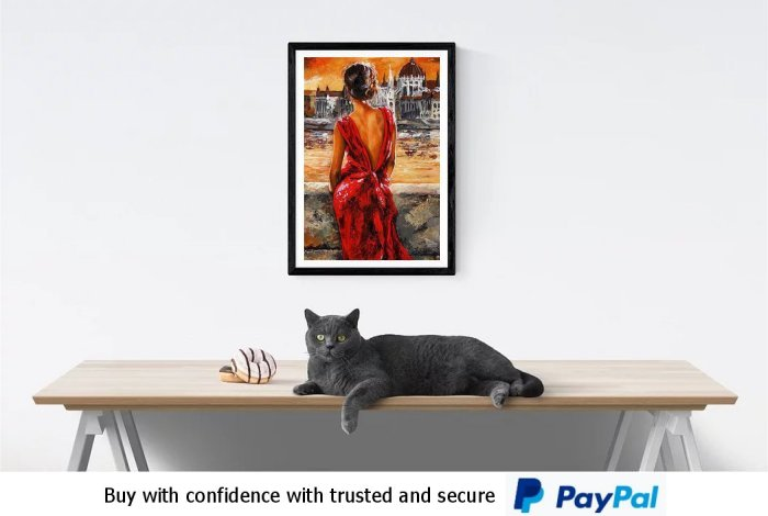 Lady In Red Wall At Prints