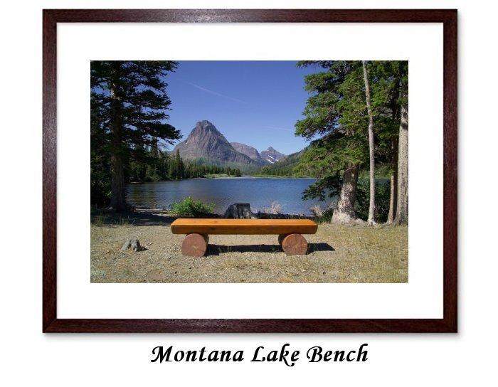 Landscape Scenic Pray Lake Bench Trees Water