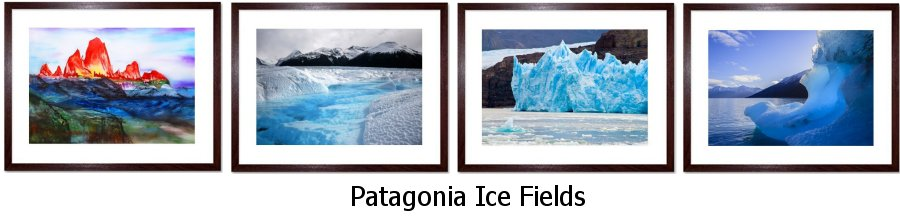 Patagonia Ice Fields Framed Prints