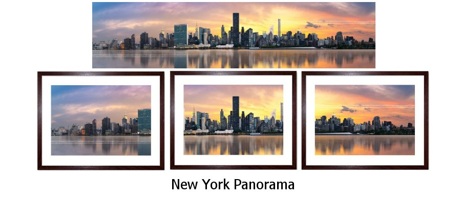 New York Panorama Framed Prints