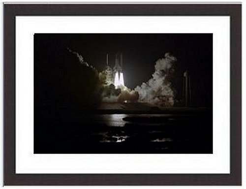 Italy Old AgeChallenger Space Shuttle Launch Mission Night Sts-8