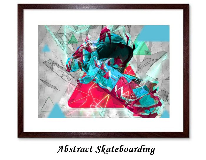 Abstract Skateboarding
