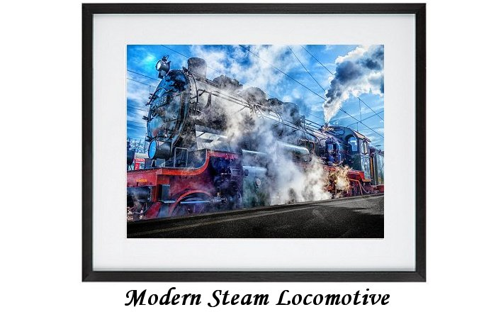 Modern Art Steam Locomotive